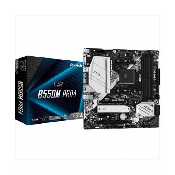 ASRock B550M Pro4 DDR4 AMD Motherboard ASRock B550M Pro4 DDR4 AMD Motherboard ASRock B550M Pro4