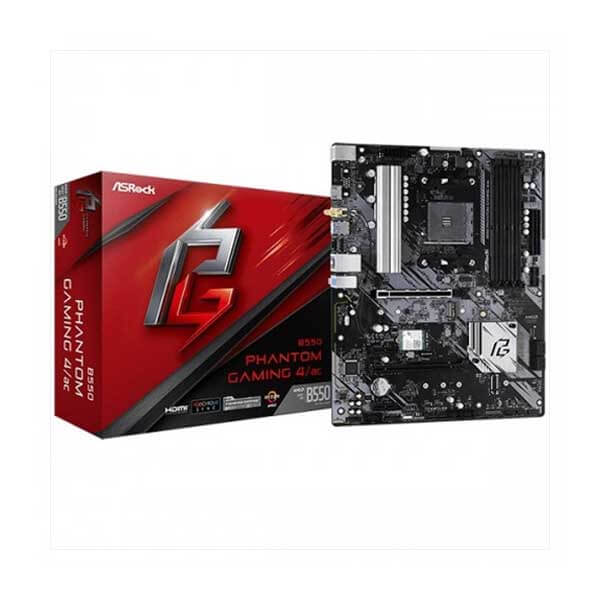 ASRock B550 Phantom Gaming 4 AMD Motherboard ASRock B550 Phantom Gaming 4 AMD Motherboard ASRock B550 Phantom