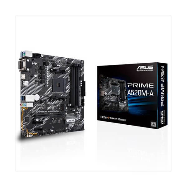Asus Prime A520M-A Micro ATX AM4 Motherboard Asus Prime A520M-A Micro ATX AM4 Motherboard Asus Prime A520M-A Micro ATX AM4 Motherboard Asus Prime A520M-A