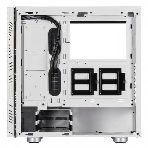 """SPECIFICATION: Type Mid-Tower Gaming Case Front Panel Slatted front panel Tempered Glass Panel Yes Motherboard Support ATX External Features Color(s) White Weight 6.9kg / 15.2lbs Dimensions 457mm x 216mm x 455mm Front Ports Slatted front panel Expansion Slots 7+2 vertical Radiator Support 120mm, 140mm, 240mm, 280mm, 360mm Pre-Installed Fans 120mm fans x 3 Drive Bays Case Drive Bays: 3.5"""" x 4 Case Drive Bays: 2.5"""" x 2 Additional Feature PSU Maximum PSU Length 180mm Clearance Space Maximum Processor Cooler Height 170mm Maximum Graphics Card Length 370mm CORSAIR 275R Airflow Gaming Case in Bangladesh The CORSAIR 275R Airflow Gaming Case is a mid-tower ATX case that pairs modern design with maximum airflow, thanks to a slatted front panel and a single tempered glass window. THREE INCLUDED 120MM FANS For powerful airflow out of the box, the 275R comes pre-equipped with three 120mm fans, two intake,s and one rear exhaust TURN YOUR CASE INTO A SMART CASE Add a CORSAIR iCUE Commander PRO for unparalleled control over your system's performance and RGB lighting. Get in-depth insight into your system temperatures in real-time and set up intelligent fan curves to automatically adjust speeds based on your system's demands. Create, customize, and synchronize stunning RGB lighting effects when you connect CORSAIR RGB fans and lighting strips for an amazing system-wide light show. Powered by CORSAIR iCUE software, the CORSAIR iCUE Commander PRO is everything you need to turn your case into a smart case."""